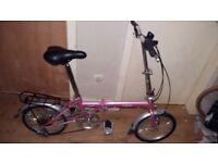 Nice pink ladies Fold up Bike £60