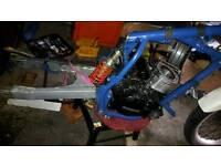 Kawasaki KLR 650 Tengai frame and v5