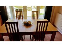 Brand new dining table set of 4 chairs and sideboard