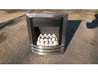 inset brushed effect gas fire