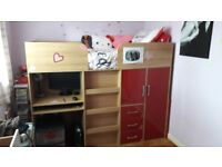 Childs Mid sleeper/cabin bed