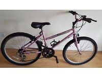 Raleigh Girls Ladies Mountain Bike. 10 speed. 24 inch wheels (Suit: 11 yrs to 14 yrs).
