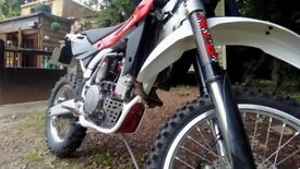 Husqvarna te 450 enduro road registered.