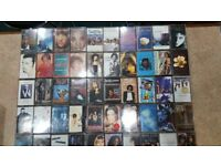 50 cassette tapes of different artists