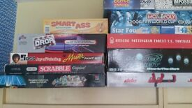 A range of board games and other games on offer