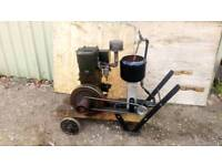 1952 LISTER D PETROL STATIONARY ENGINE WITH WATER PUMP ON BARROW IN GOOD WORKING ORDER £375