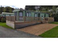 Static Caravan stunning Delta Danbury 38 x 12 foot 2 bedroom sleeps 6 on beautiful site in mid wales