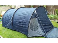 Blue Vango Gamma 350 tent 3-4 man with one internal bedroom