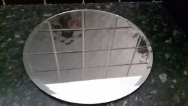 10 x 25cm round mirror plate - great for using for Christmas, Birthday, Party, Wedding etc