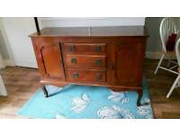 Solid wood vintage buffet sideboard