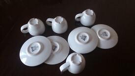 4 ikea espresso cups and saucers