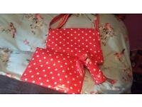 Cath Kidson red porka dot baby changing bag