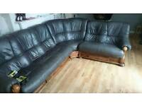 Leather couch free to good home.