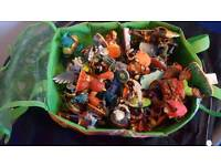 56 skylanders figures and carry case with portal