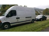 Renault master van 2007 lbw extra hi top or swap for tidy trailer