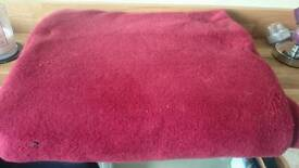 Red throw for sale