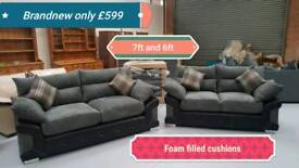 Limited stock Brand new luxury 3 & 2 seater sofas 7ft and 6ft free delivery 07808222995