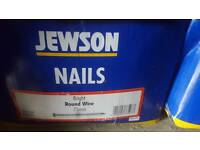 5 x 10kg boxes of nails (various) for car boot / resale
