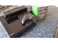 Xbox One 500gb, with Kinect, controller and 13 games