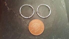 brand new sterling silver bali hoop earrings