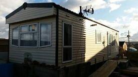 Unsited 2 bedroom, 2005 Cossalt, 6 berth, double glazed Static caravan 34' x 10' Mobile Home