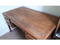 Pre-loved solid wood desk
