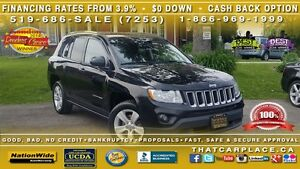 2013 Jeep Compass North-$67/Wk-4X4-Bluetooth-Alloys London Ontario image 1