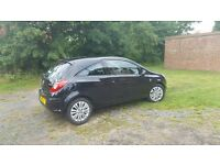 Vauxhall Corsa 2011 3dr Excite 1.3ltr diesel - Black full service history, 1 lady owner from new