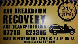 recovery service vehicle transportation Peterborough