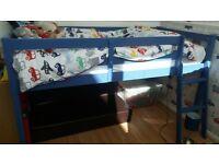 childrens single bed midsleeper bed