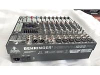 Beringer DJ Mixer xenyx 1222 fx with built in effects. Fully functional and in excellent condition