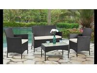 4 piece PE Rattan garden furniture set