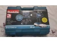 Makita 18v Drill and 74 piece bit set
