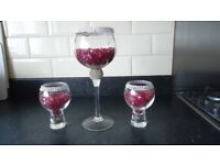 GLASS CENTRE PIECES FOR ANY OCCASION