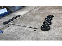 York Olympic Barbell (20kg) and plate Set