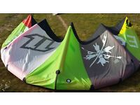 KITESURFING NORTH EVO 9m2 COMPLETE WITH BAR