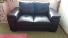 Dark Brown 2 Seater Settee. Very good condition suitable for bedroom or dining room.