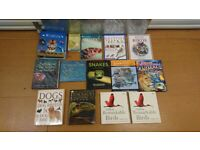 Collection of 14 Wildlife Books Animals Birds Snakes Dogs Dinosaurs Encyclopedia