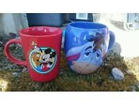Disney character mug, Eeyore, Mickey Mouse