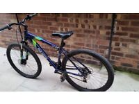 "Blue Apollo paradox 17"" bike."