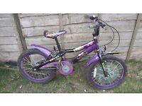 Monster high girls bike 18 inch wheel
