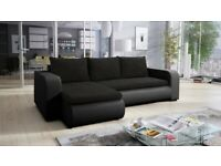 Universal Corner Sofa Bed in Black Colour with one storage