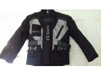 Boys RS Sports motorbike jacket in good condition age 7-8