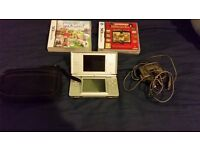 NINTENDO DS LITE GREY WITH EXTRAS BUNDLE GOOD CONDITION