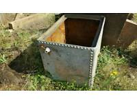~*SOLD - FREE OLD WATER TANK/PLANTER*~