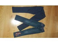2 pairs of girls jeans age 5-6 years. Great Condition