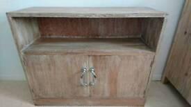 Oak side cabinet cupboard unit mid century
