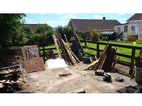 load of scrap wood