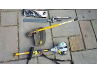 Ryobi 'Expandit' Petrol Strimmer and Articulated Hedgetrimmer