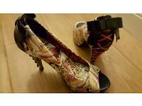 Steam punk Iron Fist size 7 heels